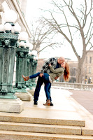 Robert and Chelsea ~ Madison, WI Capitol Square Engagement Session